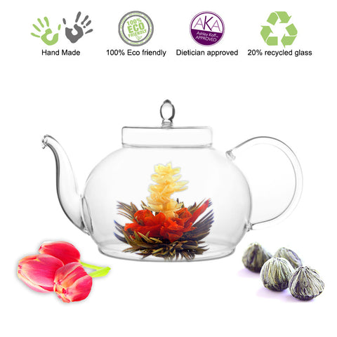 Blooming tea Gourmet Gift set Polo Fab Flowering tea 4 cts