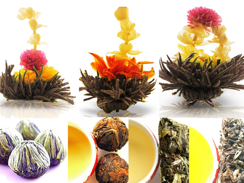 Valentine Day Flowering Tea and Whole Leaf Tea Collections