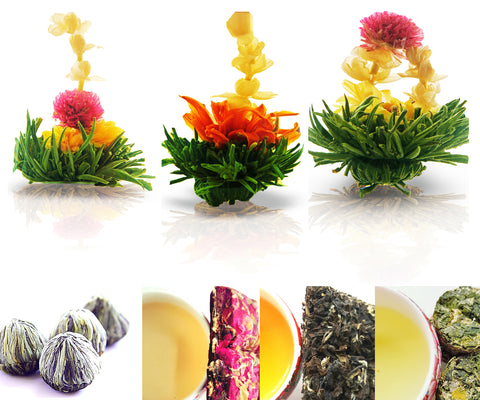 Tea Beyond Tea Samplers Assorted Zen Flowering tea 3 Packs Rose 20g Beauty Oolong 20g Chamomile Oolong 20g