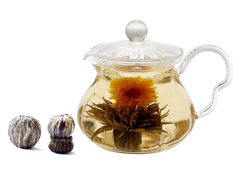 Blooming tea gift set tea pot  DUO and blooming tea 2 counts
