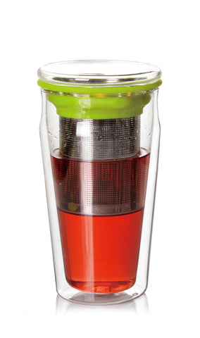 Eco Double Wall Glass Tumbler 15 oz