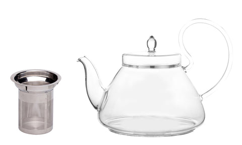 Teapot Pi 35 Oz Non Drip Lead Free with a stainless steel strainer