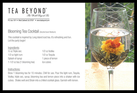 Tea Beyond Fab Flowering tea  12 counts green tea based hand crafted gift pack blooming tea