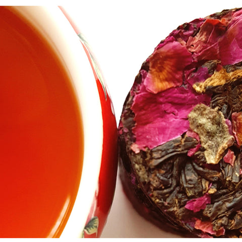 Natural Rose Black Tea Whole Loose Leaf Tea In Tea Bricks