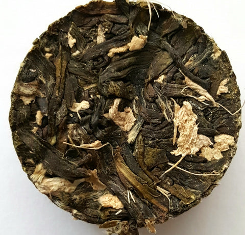 Ginger Jasmine Green Tea Whole Loose Leaf Tea In Tea Bricks