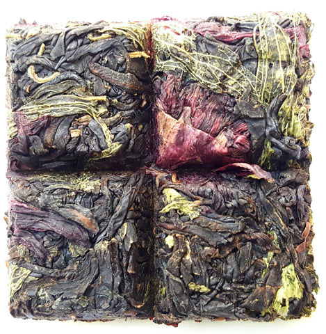 Caffeine Free Natural Sweet Hibiscus In Tea Bricks Whole Leaf Tea