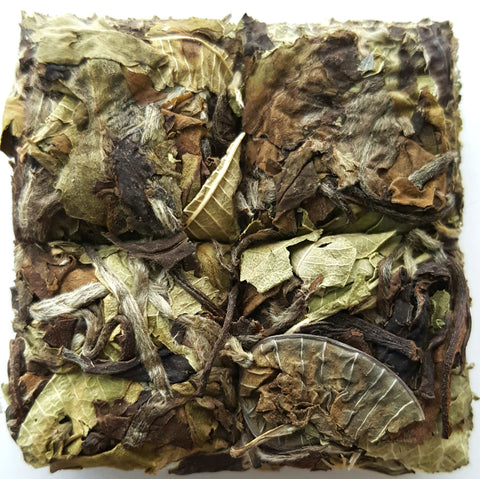 Natural Lemon White Tea Whole Leaf Loose Tea In Tea Bricks