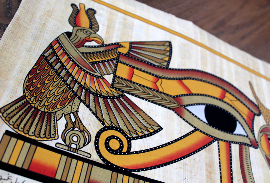 Eye of Horus II | Ancient Egyptian Papyrus Painting ...