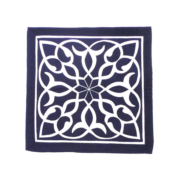 Midnight Flower | Applique Art Wall Hanging Handstitched Egyptian Khayamiya - Arkan Gallery  - 1