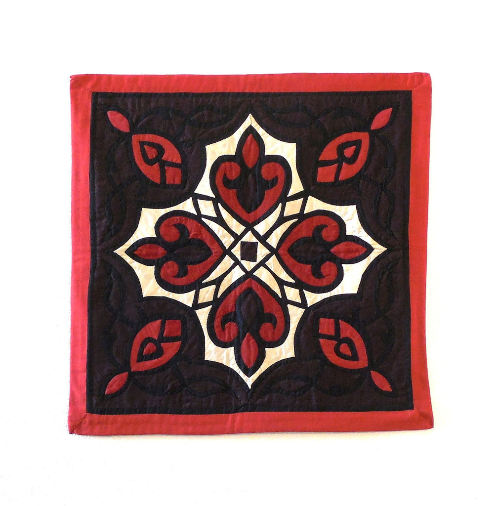 Arabesque VI | Applique Art Wall Hanging Handstitched Egyptian Khayamiya - Arkan Gallery  - 1