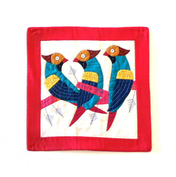 Birds | Applique Art Wall Hanging Handstitched Egyptian Khayamiya Main Arkan Gallery
