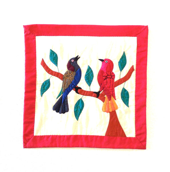 Birds II | Applique Art Wall Hanging Handstitched Egyptian Khayamiya - Arkan Gallery  - 1