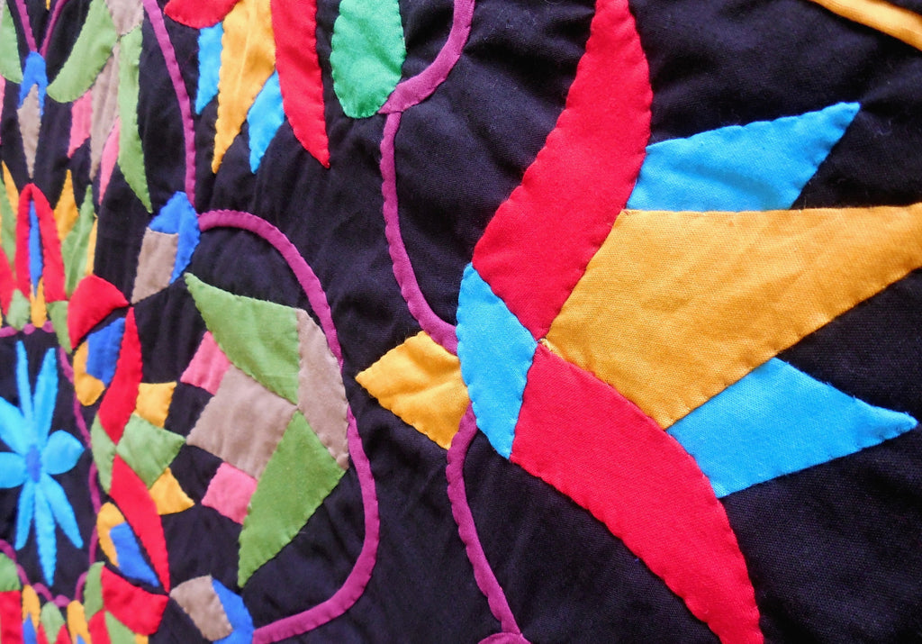 Mystic Lotus | Applique Art Wall Hanging Handstitched Egyptian Khayamiya