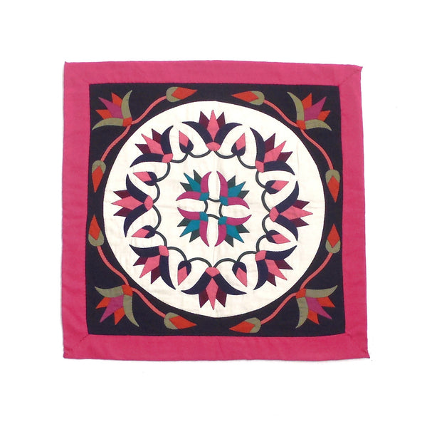 Festive Lotus II | Applique Art Wall Hanging Handstitched Egyptian Khayamiya - Arkan Gallery  - 1