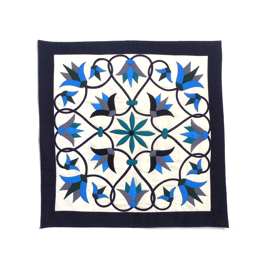 Enchanted Flower | Applique Art Wall Hanging Handstitched Egyptian Khayamiya