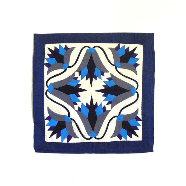 Blue Lotus | Applique Art Wall Hanging Handstitched Egyptian Khayamiya - Arkan Gallery  - 1