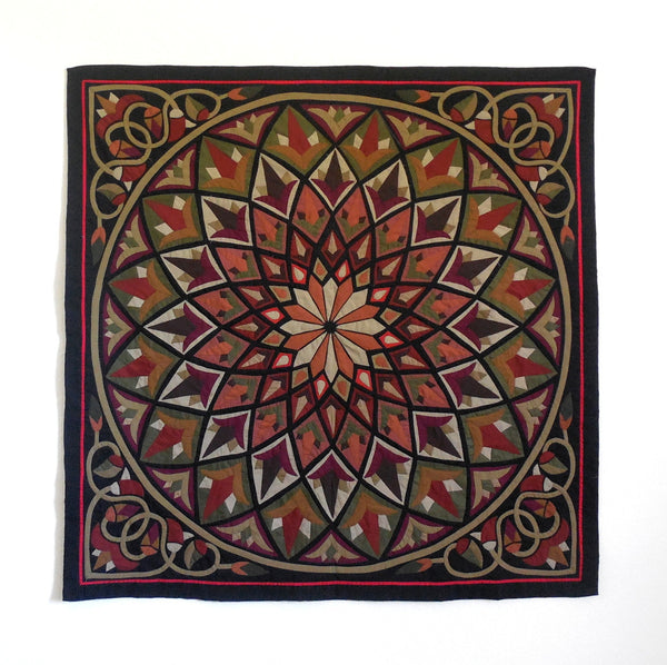 Mystic Lotus II | Applique Art Wall Hanging Handstitched Egyptian Khayamiya Main Arkan Gallery