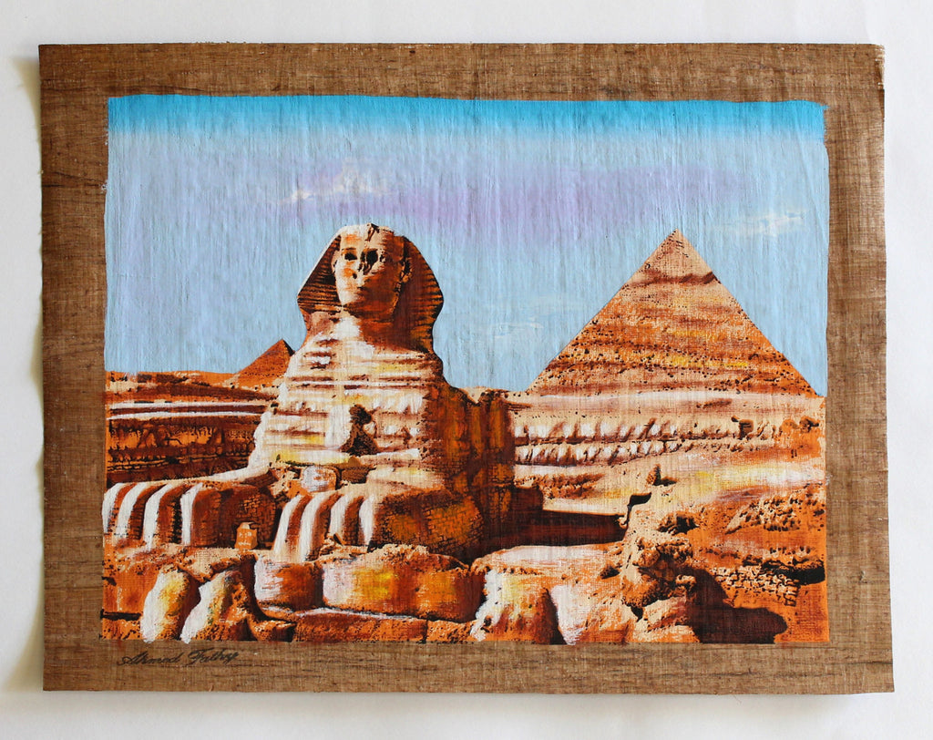 The Great Sphinx of Giza | Ancient Egyptian Papyrus Painting Main Arkan Gallery
