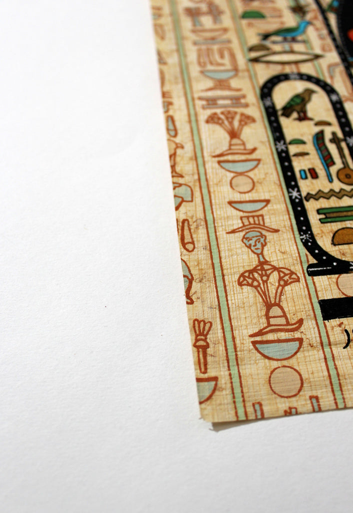 Maat and Isis | Ancient Egyptian Papyrus Painting Paper Arkan Gallery