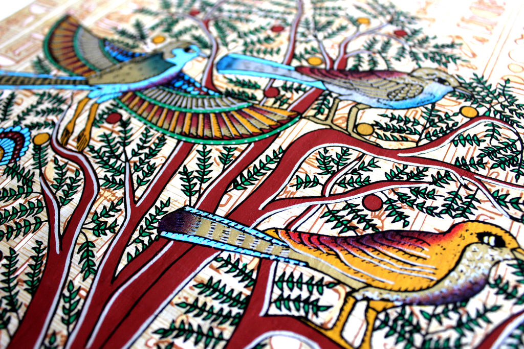 Tree of life mural ancient egyptian papyrus painting for Ancient egyptian mural paintings