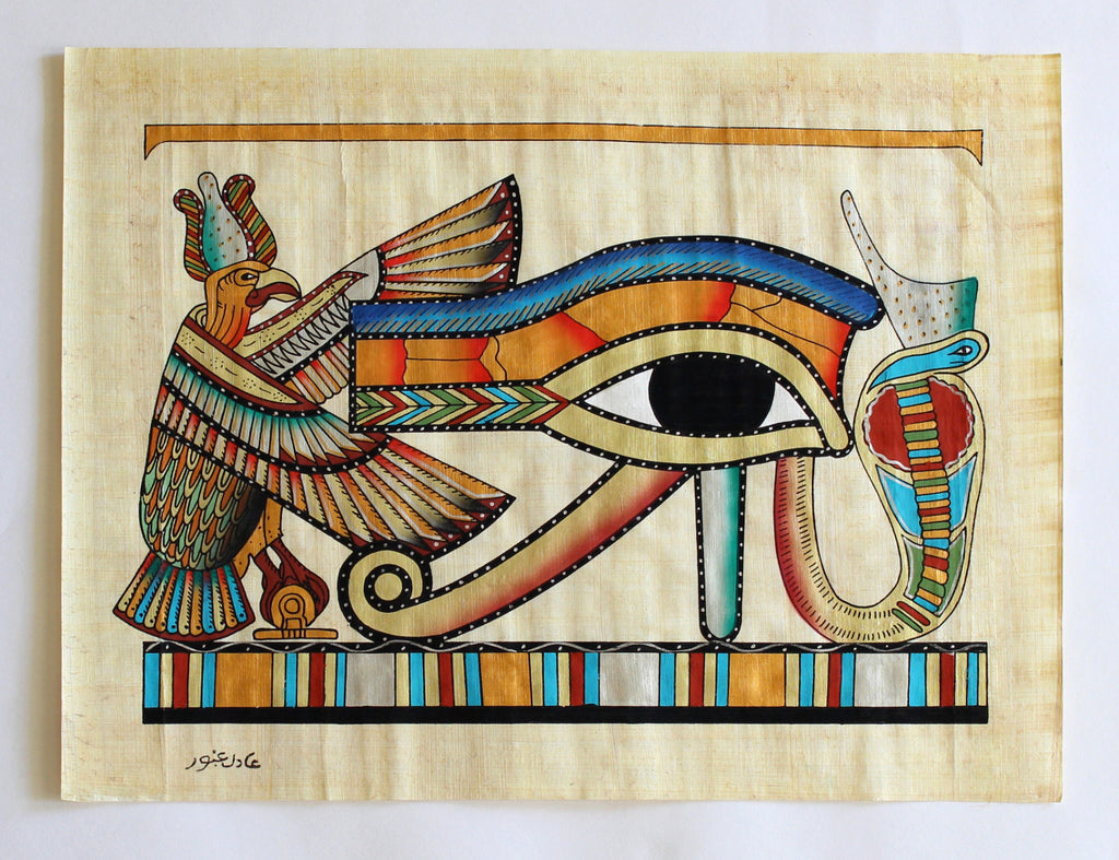 Eye of Ra | Ancient Egyptian Papyrus Painting Main Arkan Gallery