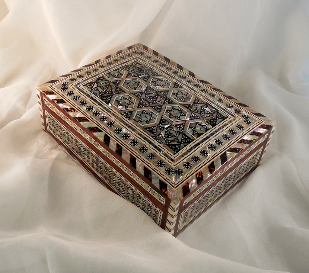 Majestic Nights | Handmade Egyptian Mother of Pearl Jewelry Box Secondary Arkan Gallery