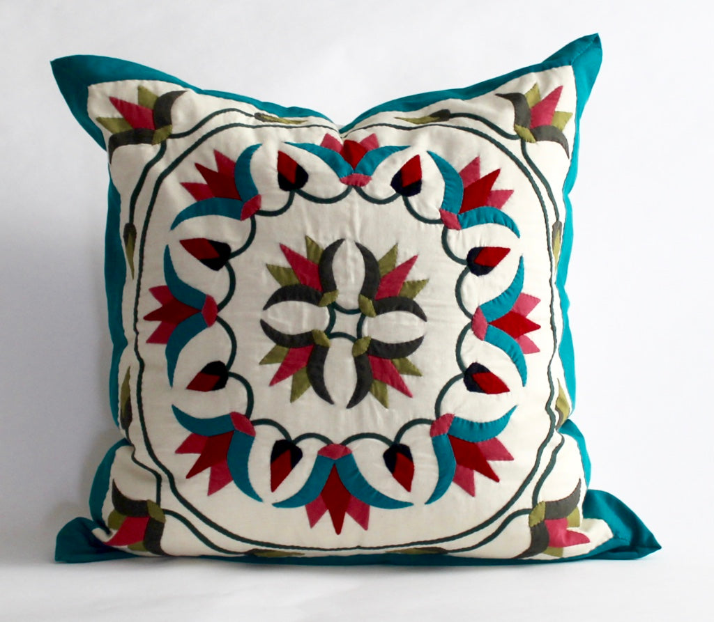 Festive Lotus | Handmade Pillow