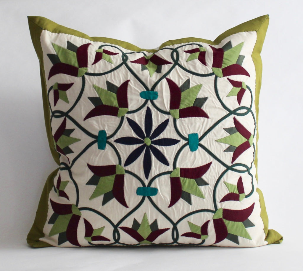 Enchanted Flower II | Handmade Pillow