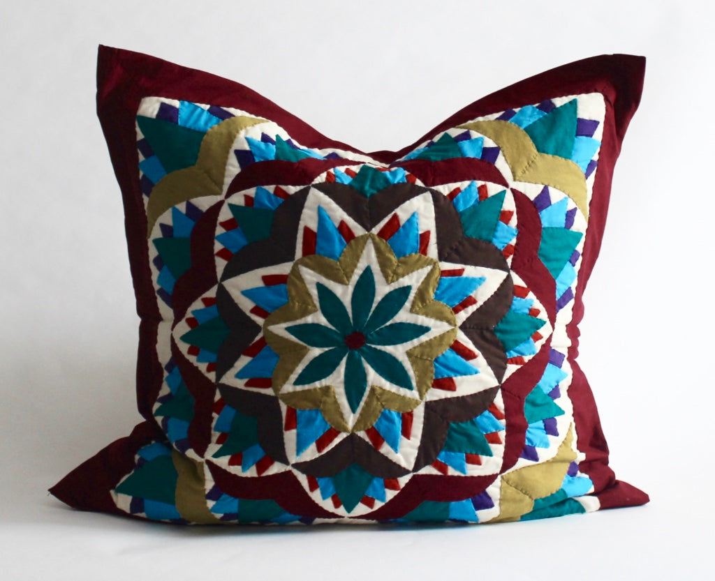 Blooming Lotus | Handmade Pillow