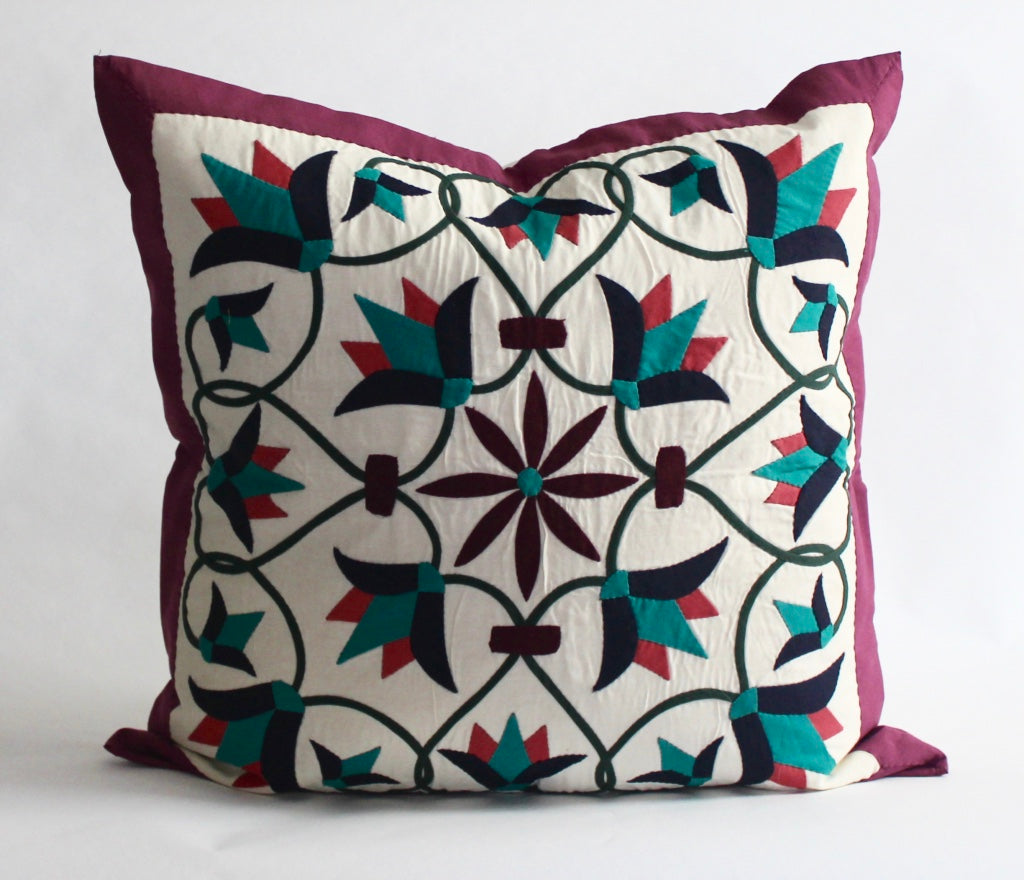 Enchanted Flower III | Handmade Pillow