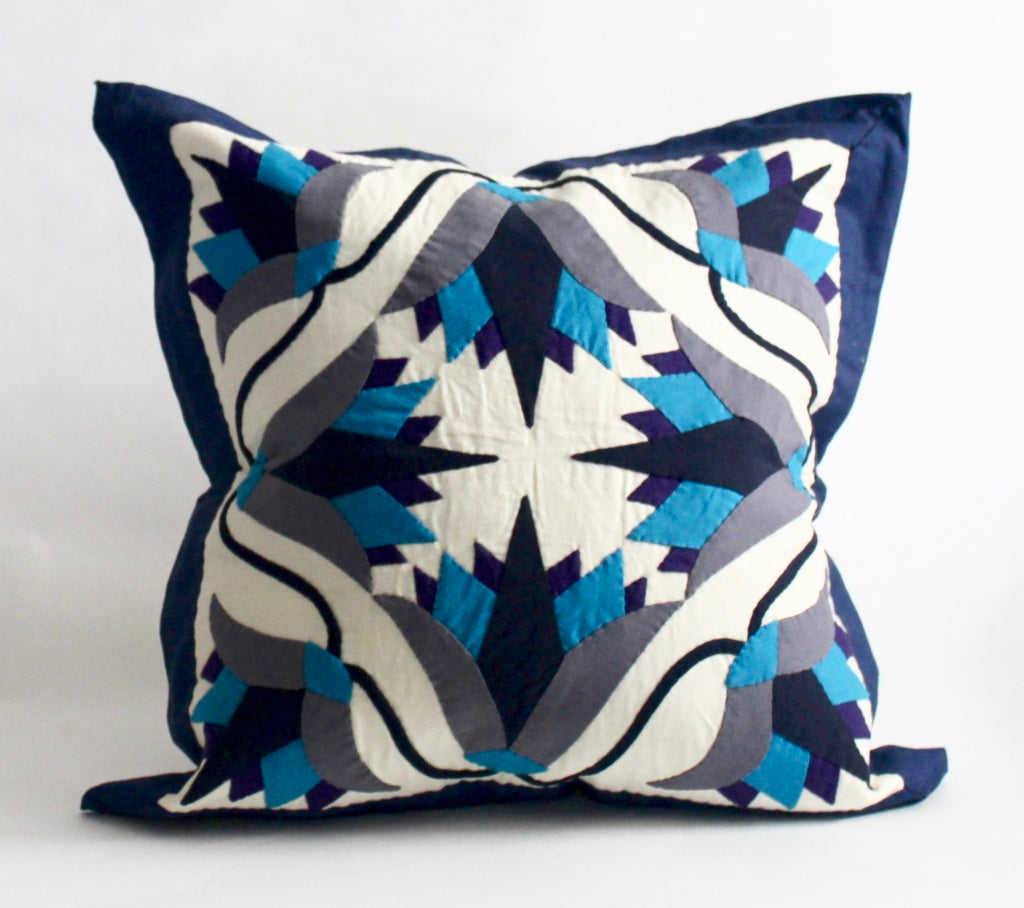 Blue Lotus | Handmade Pillow