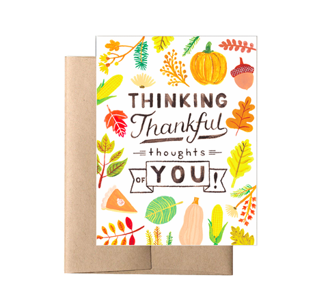 Forage Paper Co 'Thinking Thankful Thoughts of You' card