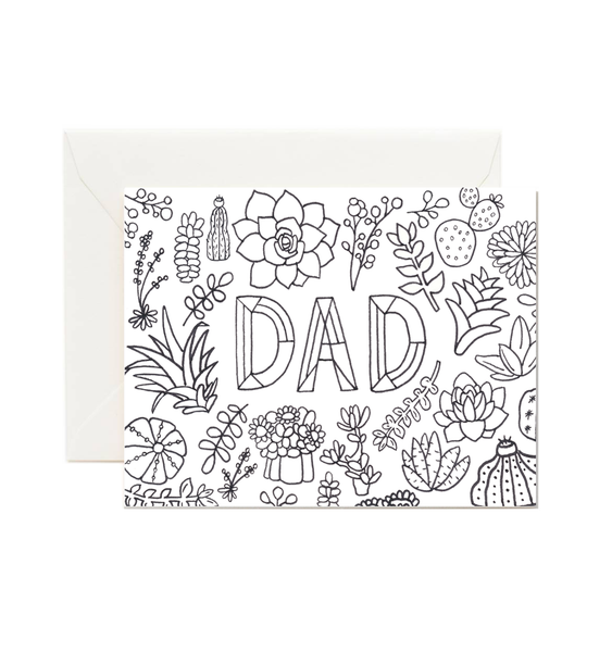 Dad Coloring Card