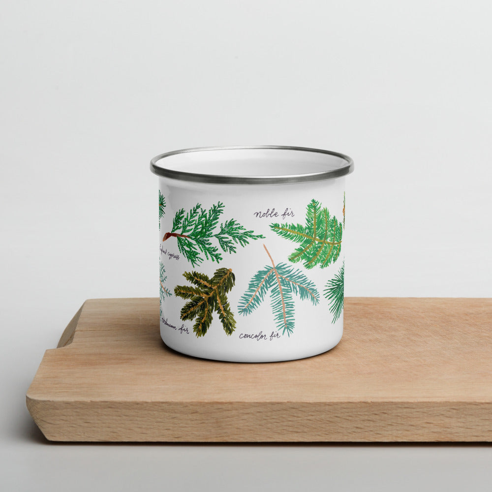 Tree Enamel Mug