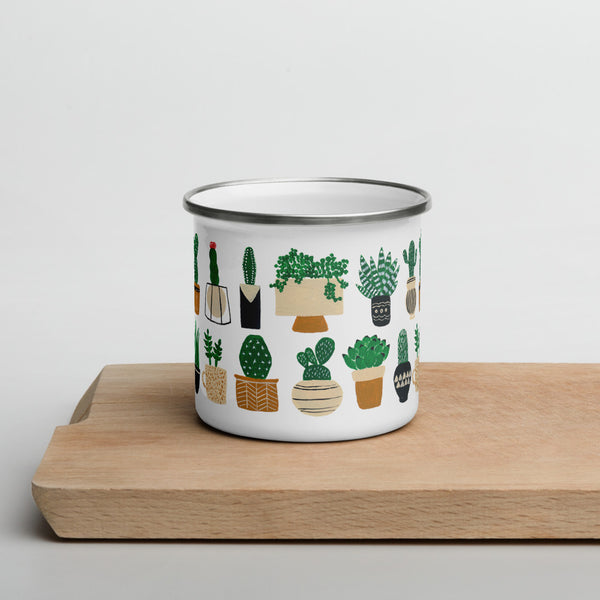 Houseplants Enamel Mug