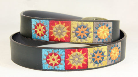Men's Casual Embroidered Leather Belt Wholesale LA2044 1 dozen Per PACK