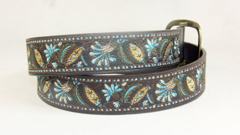 Men's Casual Embroidered Leather Belt Wholesale LA2045 1 dozen Per PACK