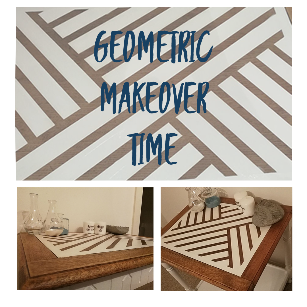 Tape Transformation - Fusion Side Table Makeover