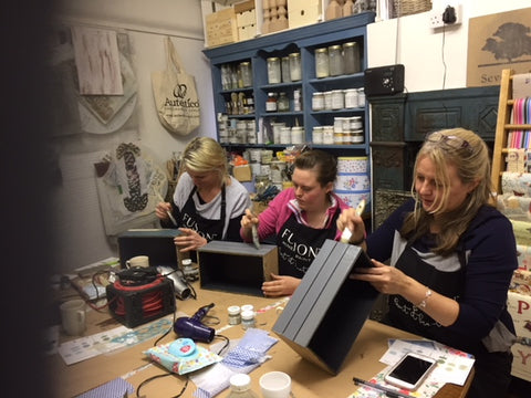 Fusion Mineral Furniture Painting Workshop - Beginners 101 held at Vintage Attic Sevenoaks, Kent, UK