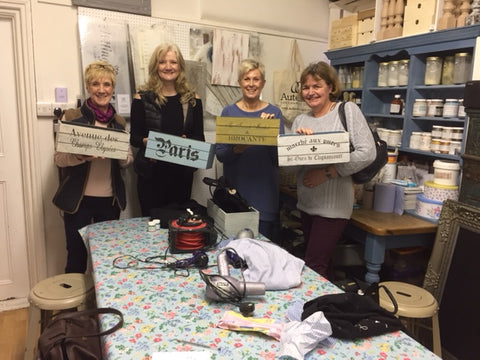 Furniture Painting Classes using Chalk Paint, held at Vintage Attic, Sevenoaks, Kent, UK