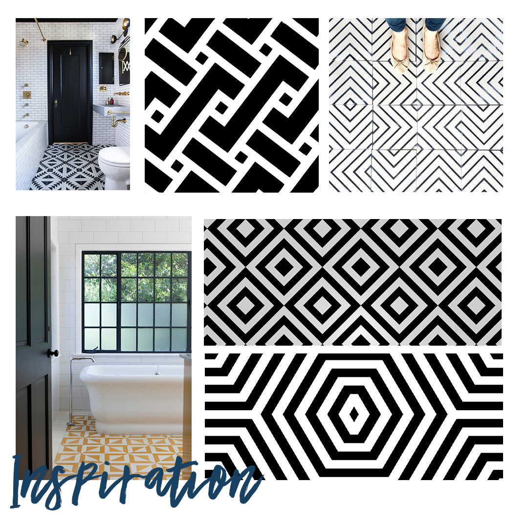 Geometric Inspiration for Fusion Mineral paint furniture makeover