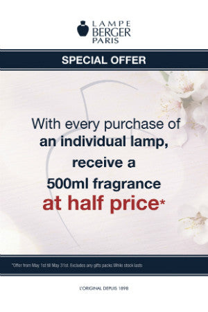 May Offer with Lampe Berger!