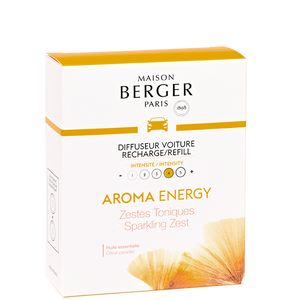 Maison Berger - Aroma Energy Sparkling Zest Set of 2 Car Diffuser Refills - Car Diffusers