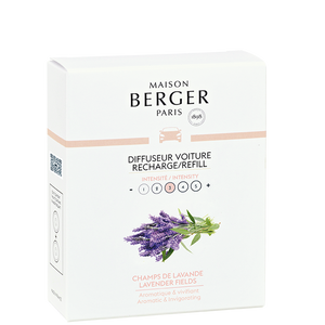 Maison Berger - Lavender Fields Set of 2 Car Diffuser Refills - Car Diffusers
