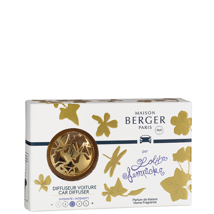 Maison Berger - Lolita Lempicka Satin Gold Car Clip Diffuser Set - Car Diffusers