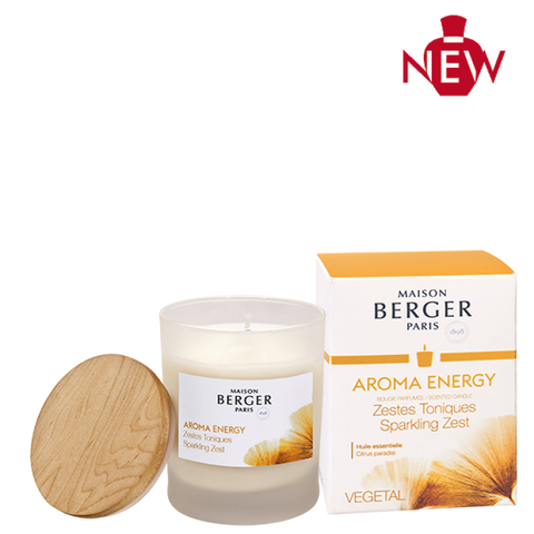Aroma Energy Sparkling Zest Candle Lampe Berger