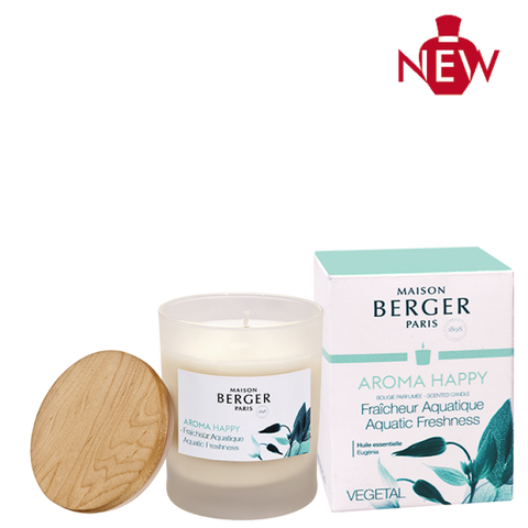 Aroma Happy Aquatic Freshness Candle Lampe Berger