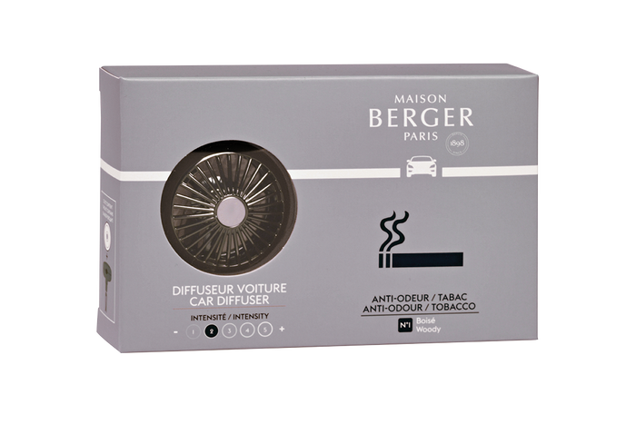 Maison Berger - Car Diffuser Clip Set - Tobacco Anti-Odour - Wheel - Car Diffusers