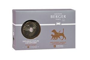 Maison Berger - Animal Anti-Odour Car Wheel Car Clip Diffuser Set- Car Diffusers
