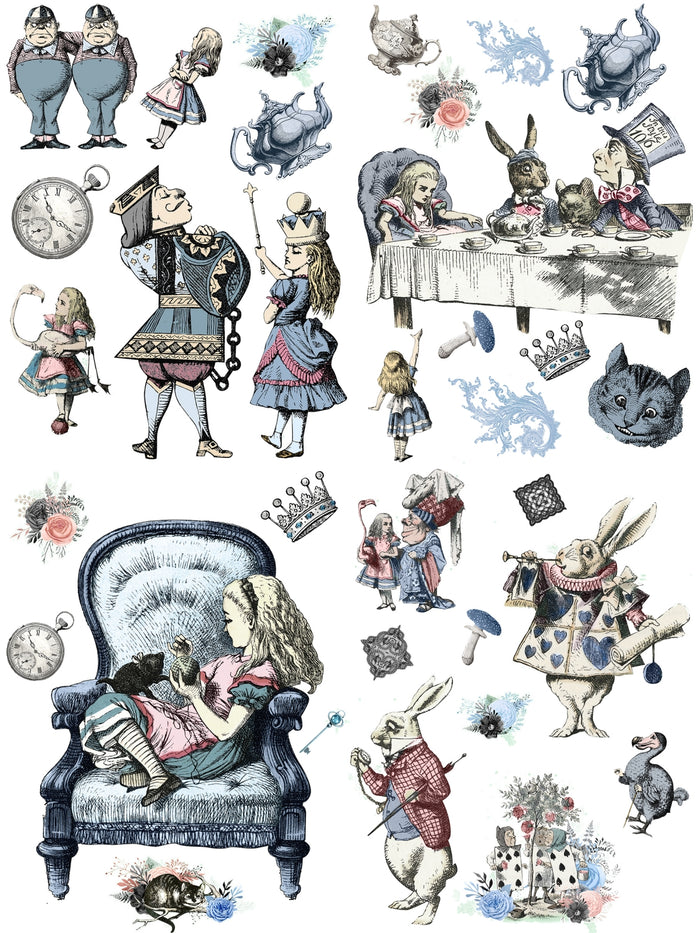 Decor Transfers & Papers | Dixie Belle Belles & Whistles | ALICE IN WONDERLAND | Decor Transfer | 63 x 81 cm